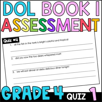 Daily Oral Language (DOL) Quiz Set #1: Aligned to 4th Grade Common Core