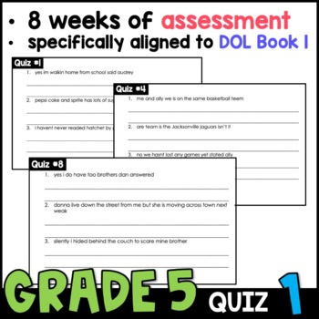Daily Oral Language (DOL) Quiz Set #1: Aligned to 5th Grade Common Core