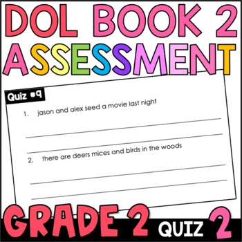 Daily Oral Language (DOL) Quiz Set #2: Aligned to 2nd Grade Common Core
