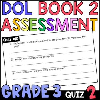 Daily Oral Language (DOL) Quiz Set #2: Aligned to 3rd Grade Common Core