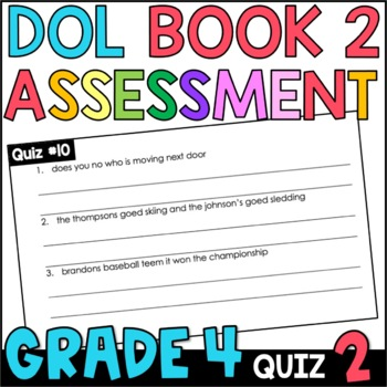 Daily Oral Language (DOL) Quiz Set #2: Aligned to 4th Grade Common Core