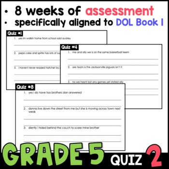 Daily Oral Language (DOL) Quiz Set #2: Aligned to 5th Grade Common Core