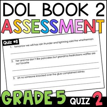 Daily Oral Language (DOL) Quiz Set #2: Aligned to 5th Grade Common Core