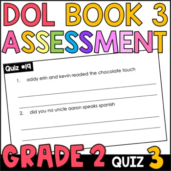 Daily Oral Language (DOL) Quiz Set #3: Aligned to 2nd Grade Common Core