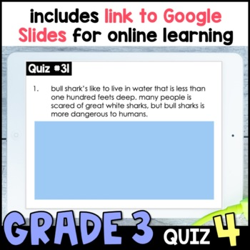 Daily Oral Language (DOL) Quiz Set #4: Aligned to 3rd Grade Common Core