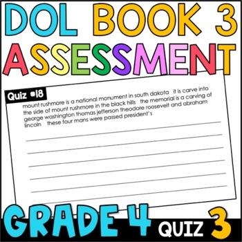 Daily Oral Language (DOL) Quiz Set #3: Aligned to 4th Grade Common Core