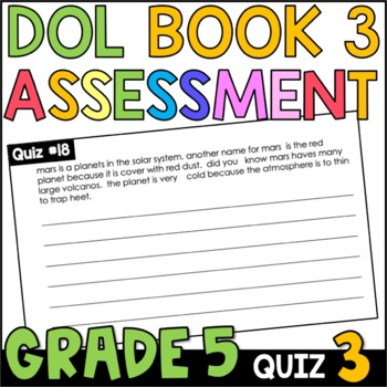 Daily Oral Language (DOL) Quiz Set #3: Aligned to 5th Grade Common Core