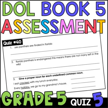 Daily Oral Language (DOL) Quiz Set #5: Aligned to 5th Grade Common Core