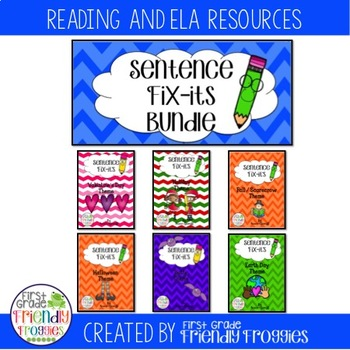 Daily Oral Language - Froggy's Fix-it!  Holiday Bundle- Sentence Order