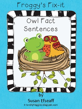 Daily Oral Language - Froggy's Fix-it!  Morning Work - Owl