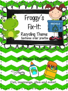 Earth Day, Recycling and Worms -Daily Oral Language Froggy