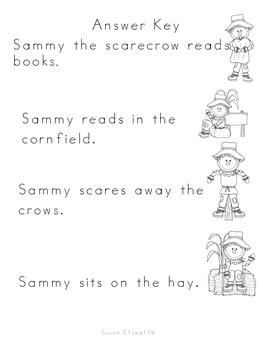 Daily Oral Language - Froggy's Fix-it!  Sentence Order Fall-Scarecrow Themed