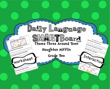 Daily Oral Language Interactive SMARTBoard - Theme 3 Houghton Mifflin