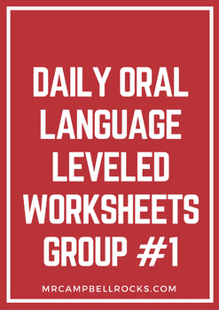 Daily Oral Language Leveled Worksheets Group #1