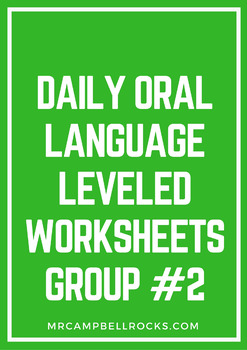 Daily Oral Language Leveled Worksheets Group #2