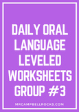 Daily Oral Language Leveled Worksheets Group #3