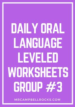 Daily Oral Language Leveled Worksheets Group #3