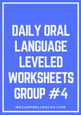 Daily Oral Language Leveled Worksheets Group #4