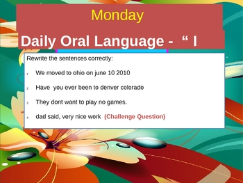 Daily Oral Language - PPT  (Grade 2-3)