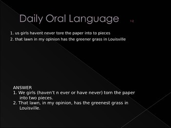 Daily Oral Language Practice