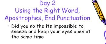 Daily Oral Language Practice: Grade 6