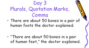 Daily Oral Language Practice: Grade 6