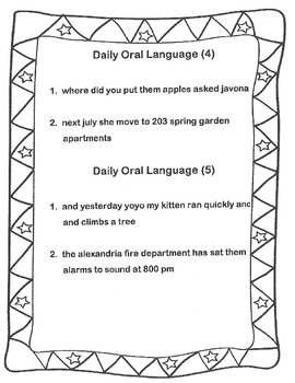 Daily Oral Language Practice Weeks 11-17