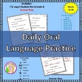Daily Oral Language Practice Weeks 32-38