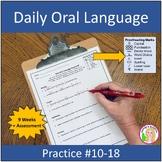 Daily Oral Language Practice Weeks 6-10