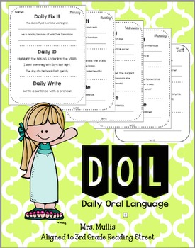Daily Oral Language for Reading Street Unit 1