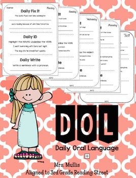 Daily Oral Language for Reading Street Unit 1 Review