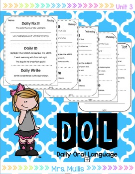 Daily Oral Language for Reading Street Unit 3