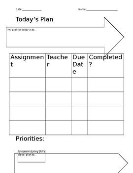 Daily Organization and Prioritization Worksheet