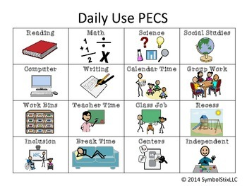 Daily PECS for Special Education