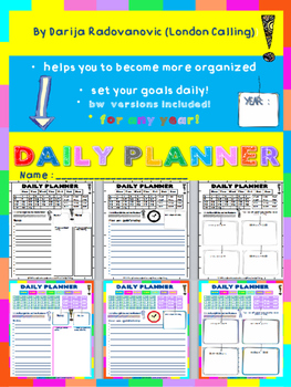 Daily PLANNER - helps you to become more organized