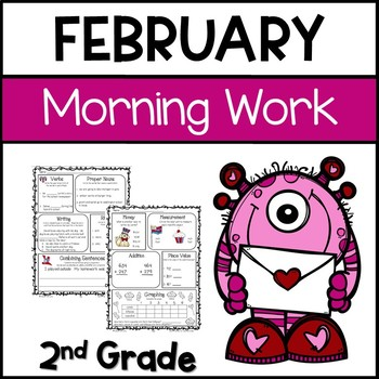 Common Core Math and Language Arts Daily Practice for Second Grade (February)