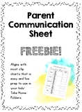 Daily Parent Communication Log FREE!