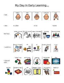 Daily Parent Communication Visual