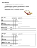 Daily Parent/Teacher Communication Log