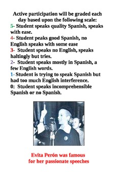 Daily Participation Poster- Spanish