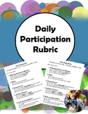 Daily Participation Rubric (Editable)