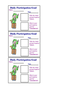 Daily Participation or Discussion Goals