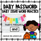 Daily Password - Sight Word Practice