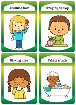 Daily Personal Care Flashcards and Matching Tasks