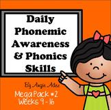 Daily Phonemic Awareness and Phonics Skills Mega Pack #2 (Weeks 9 - 16)