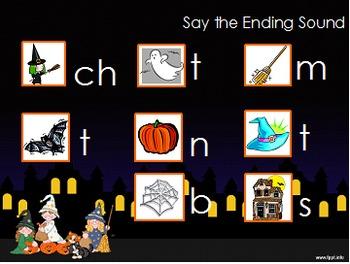 Daily Phonemic Awareness and Phonics Skills Week 10 Halloween Theme