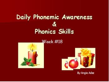 Daily Phonemic Awareness and Phonics Skills Week 18-Christmas Theme