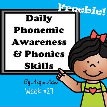 Daily Phonemic Awareness and Phonics Skills Week 27