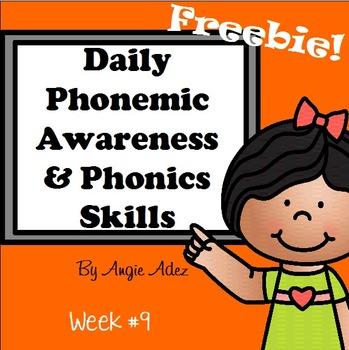 Daily Phonemic Awareness and Phonics Skills Week 9