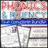 Phonics Based Fluency & Phonics Worksheets~ The Growing Bundle